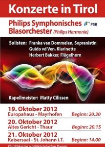 Flyer PSB concertreis 2012